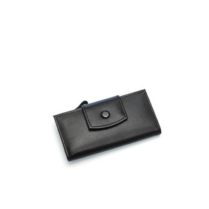 smile key holder wallet black