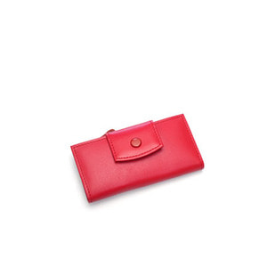 smile key holder wallet red