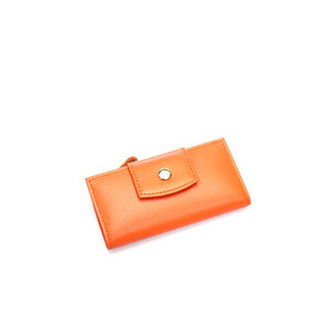 smile key holder wallet orange