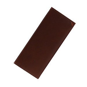 Dualline Flat Long Wallet brown