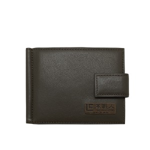 time moneyclip brown