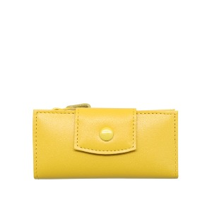 smile key holder wallet yellow